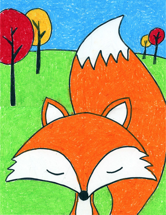draw a cute fox 183 art projects for kids